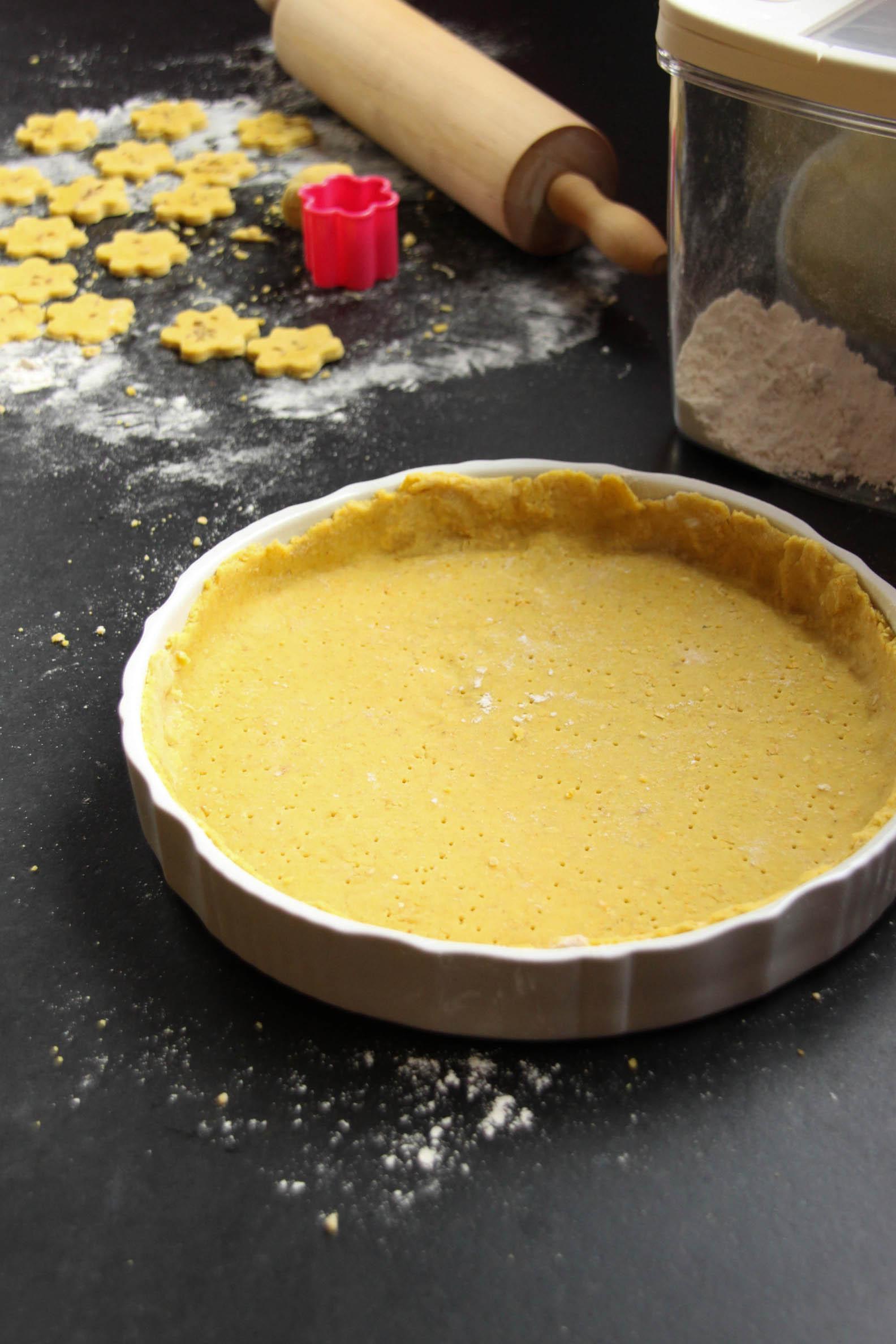 Fond de tarte salé vegan