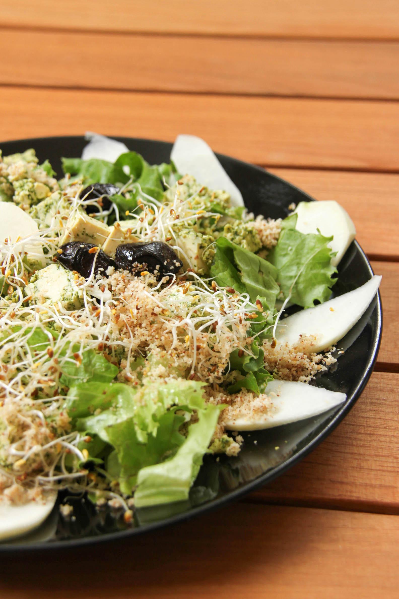 Salade vegan au tofu lactofermenté