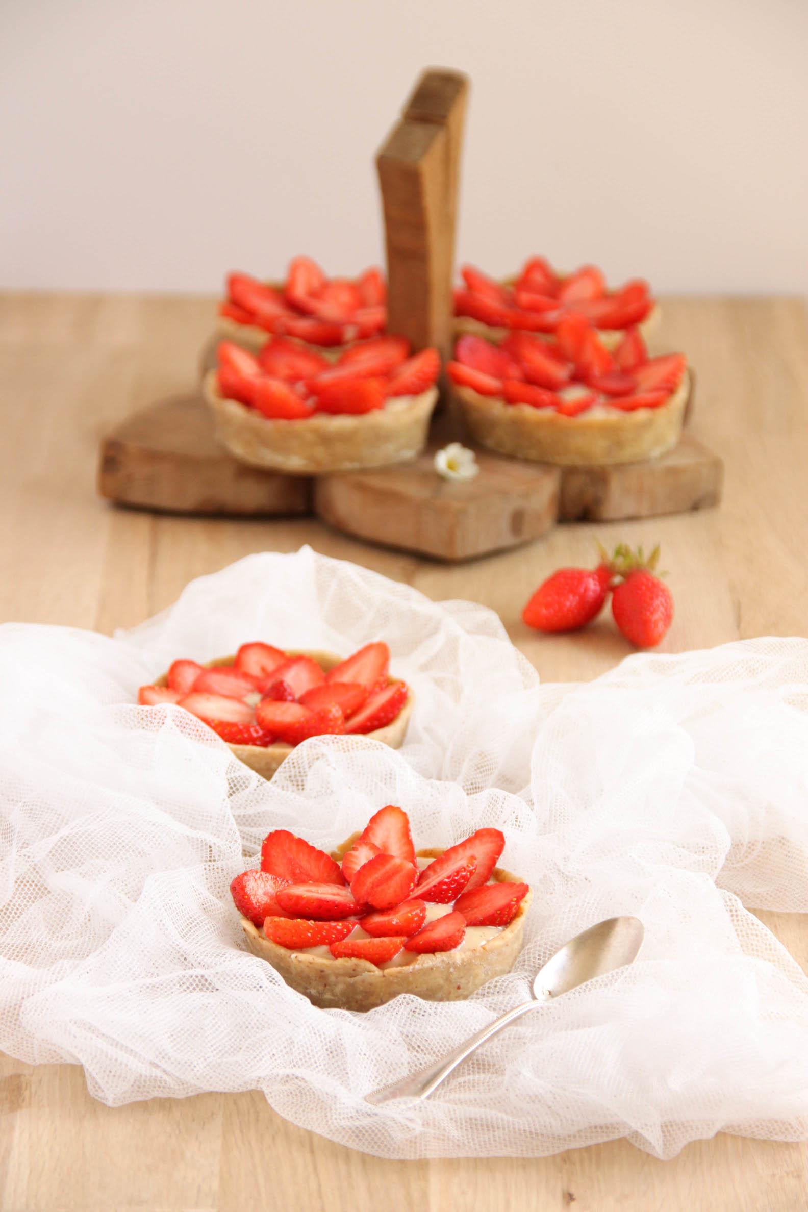 Tartelettes aux fraises du jardin