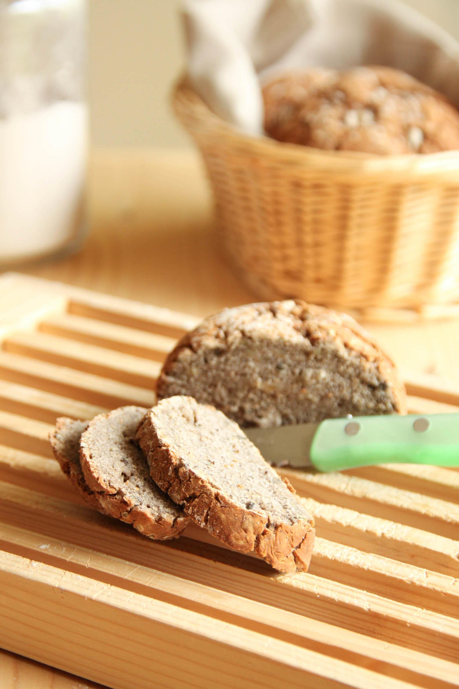 Tranches de pain bio sans gluten