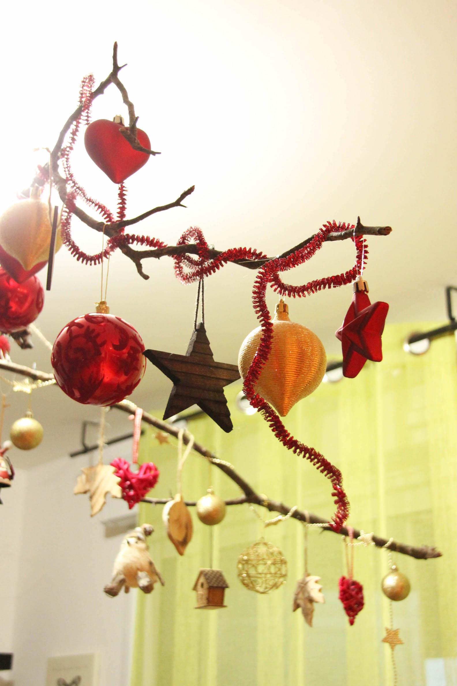Branches décorées spécial Noël