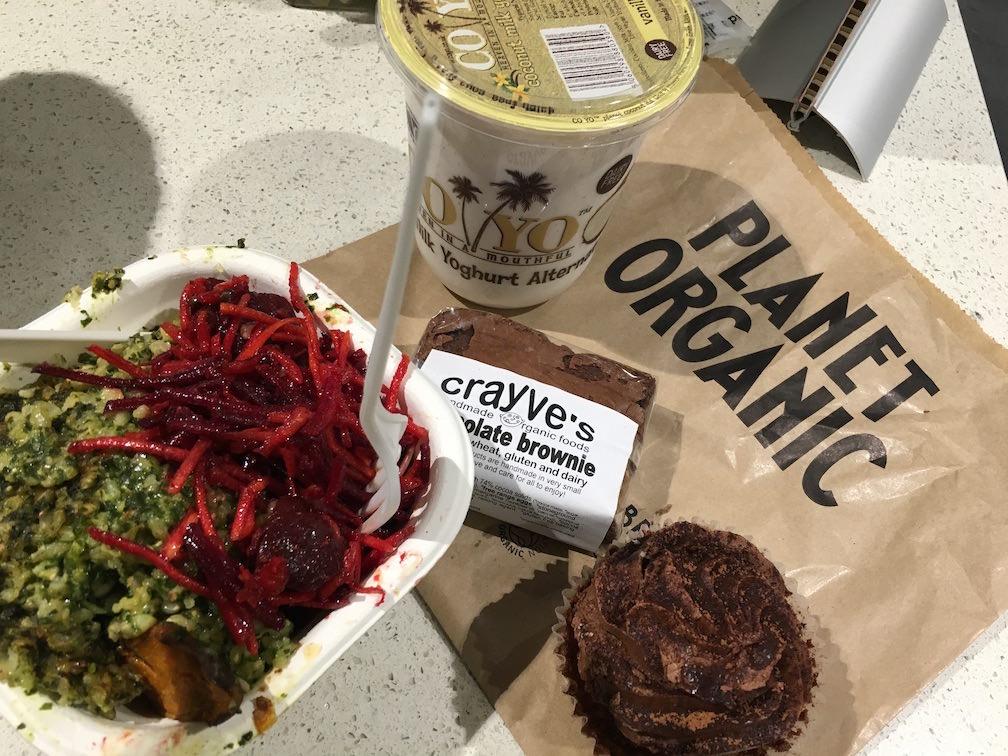 Repas bio sans gluten et végétarien à Londres