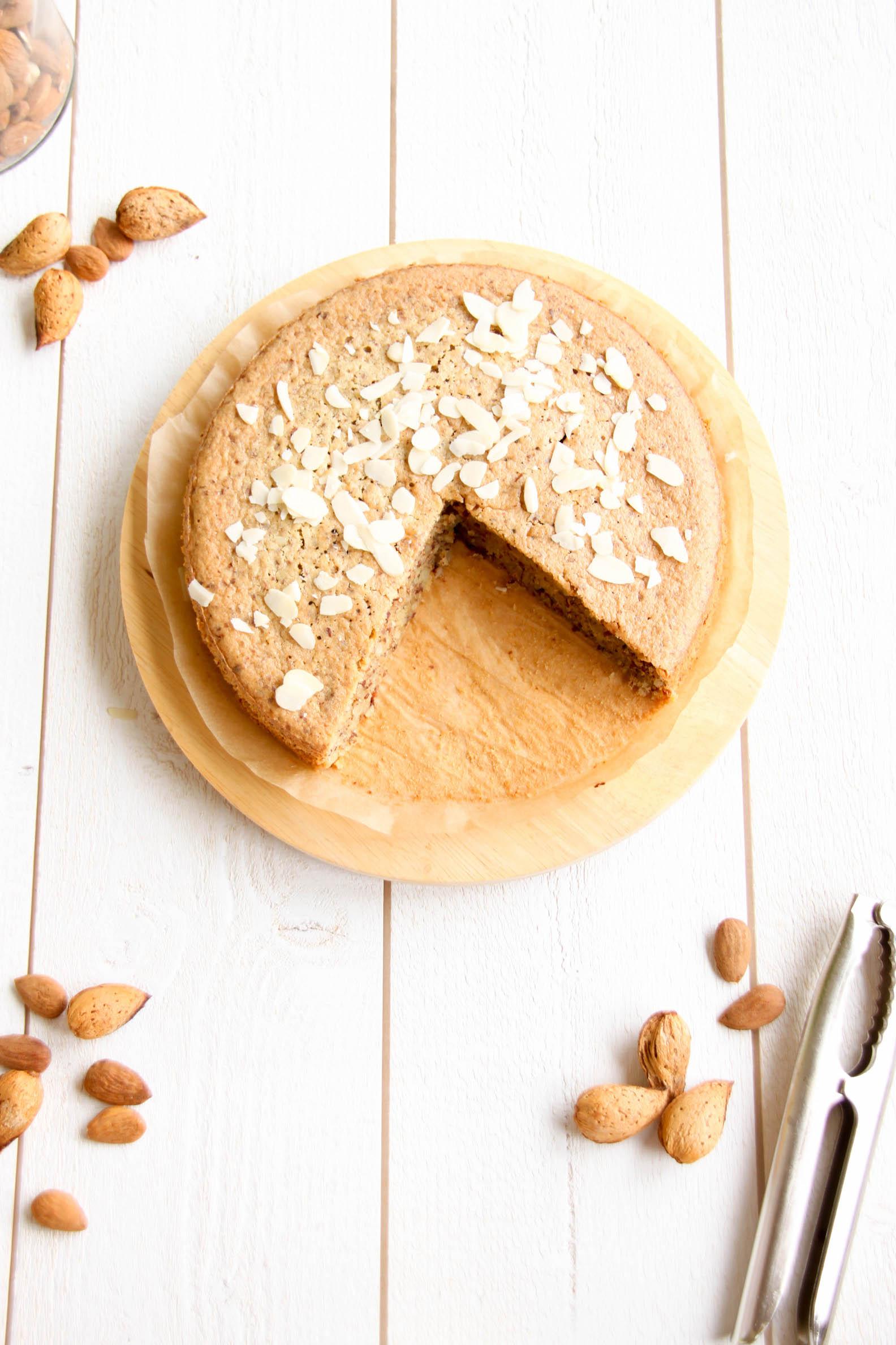 Délicieux gâteau à l'amande bio