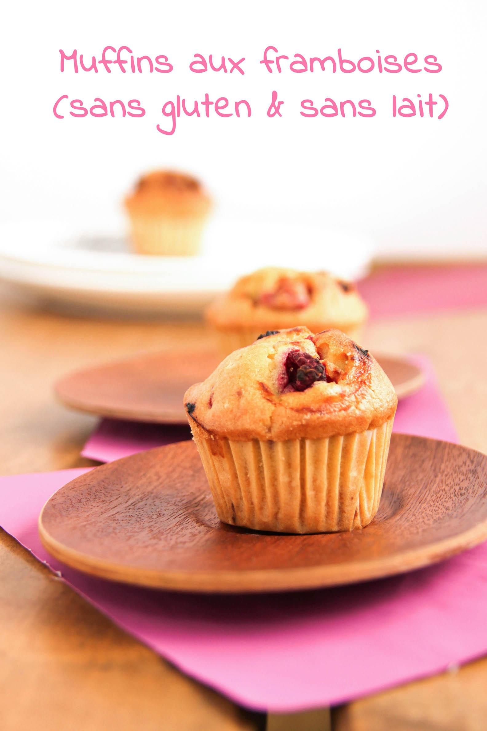 Muffins aux framboises bio et congelées
