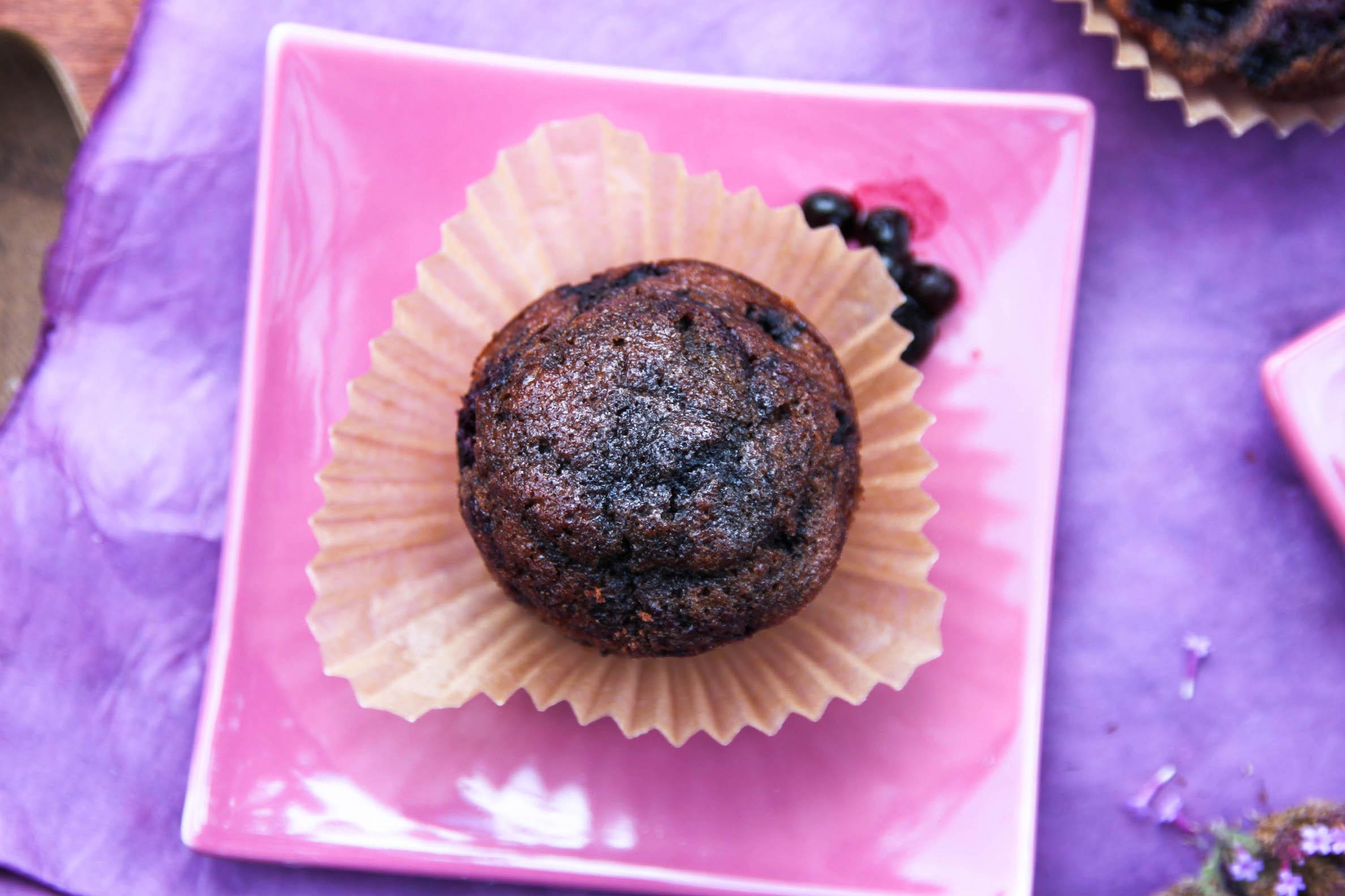 Recette bio Muffins aux myrtilles sans gluten et sans lactose