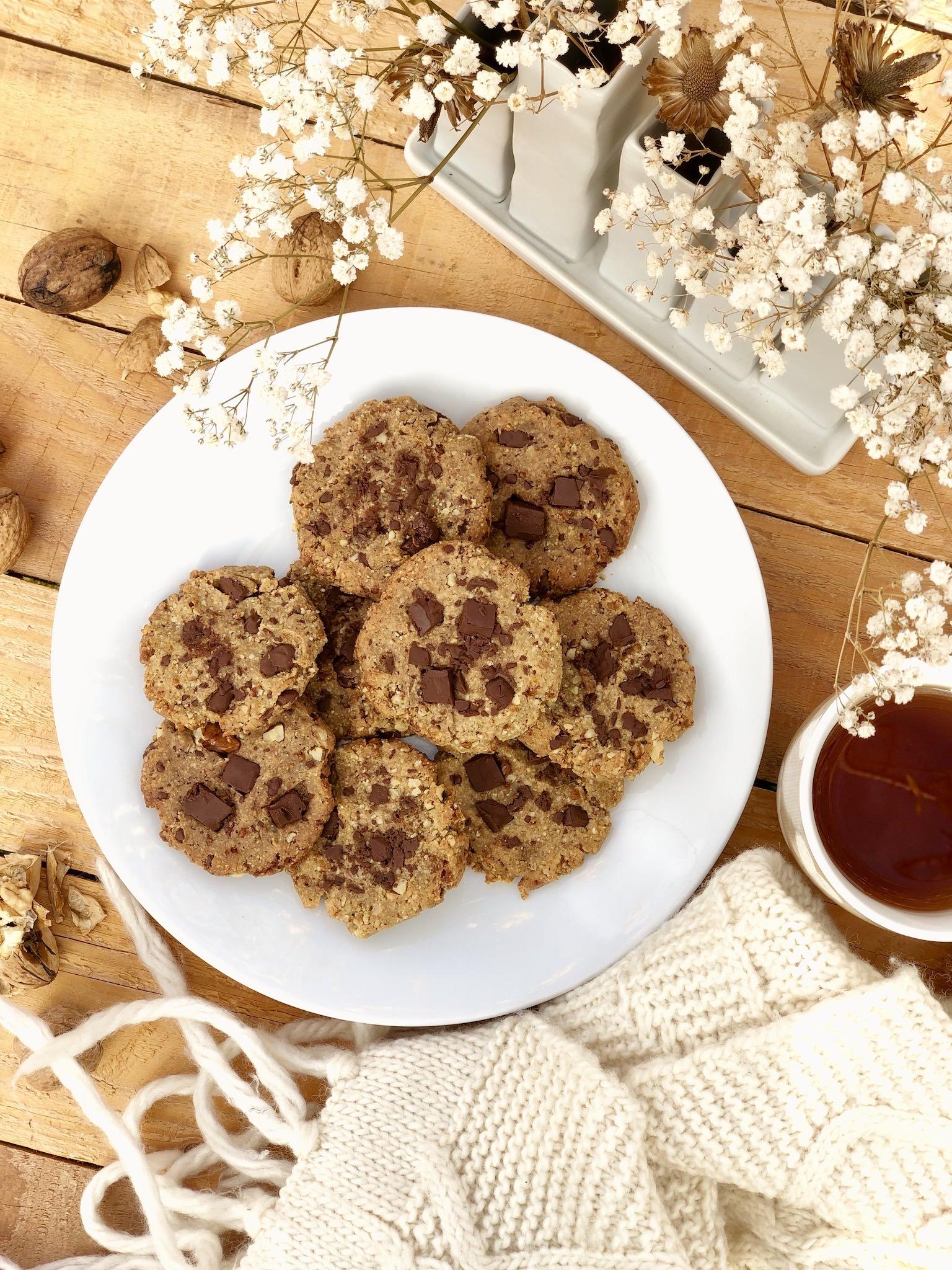 Recette de cookies bio sans gluten, sans œuf, sans soja et sans lactose