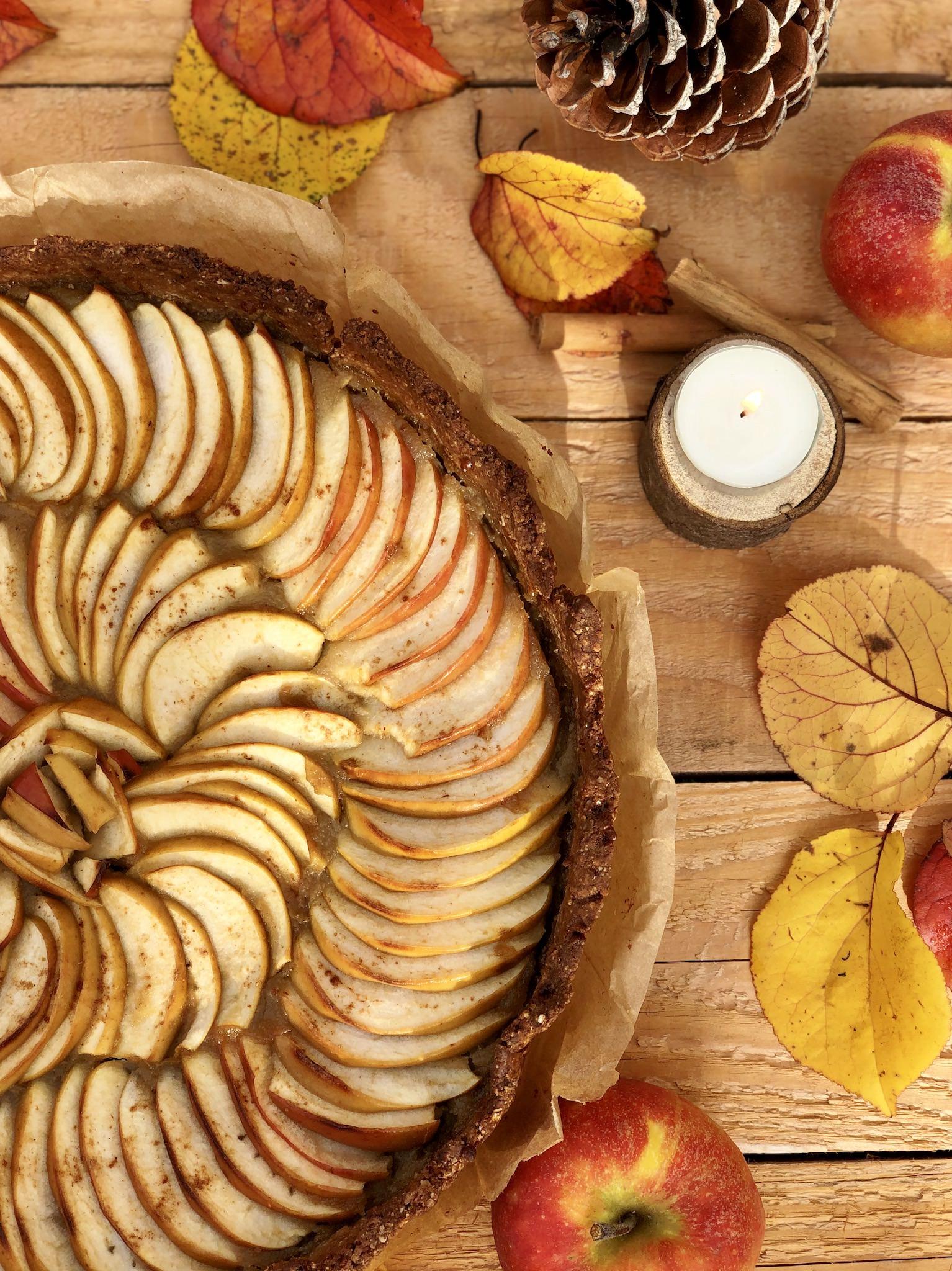 Une recette de tarte aux pommes sans gluten, sans lactose, sans œuf, sans soja, sans fruit à coque