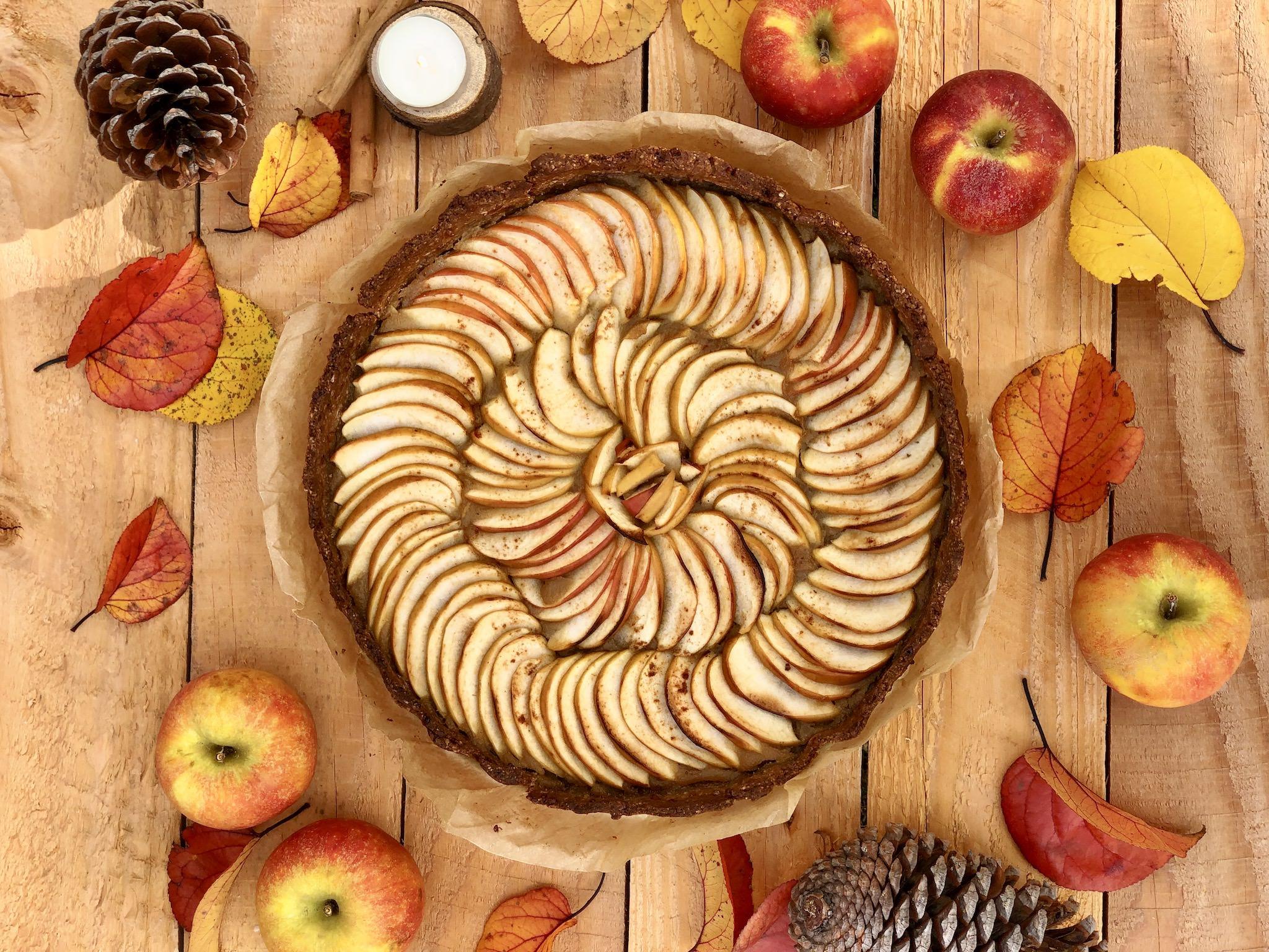Tarte aux pommes et à la cannelle